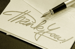 silver script and pen thank-you